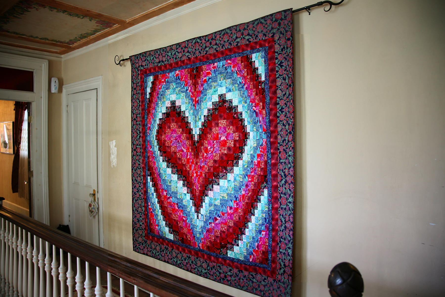 Bargello Hearts