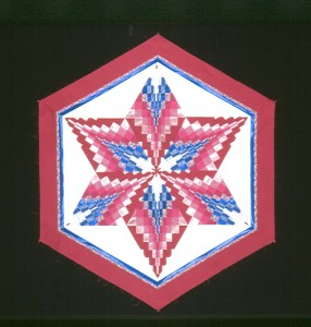 Bargello Star 60 degree inverted diamonds